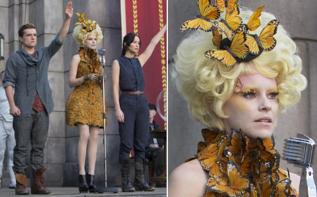 Hunger Games Effie Alexander McQueen butterfly
