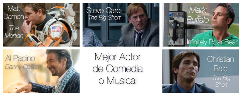 Mejor actor de comedia o musical