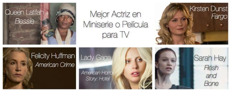 Mejor actriz en miniserie o pelicula para tv