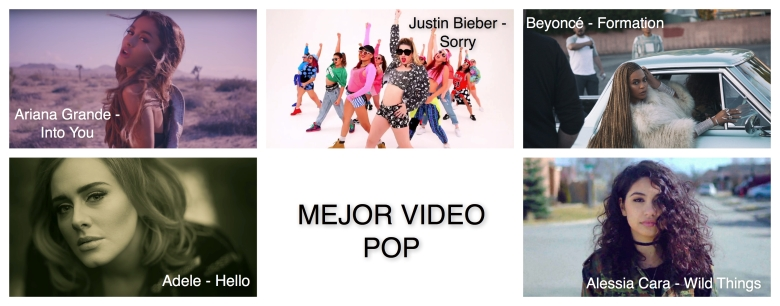 Mejor video pop