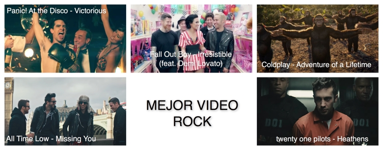 Mejor video rock