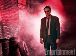 The Defenders, Charlie Cox (as Daredevil), photographed for Entertainment Weekly on December 10th, 2016, by Finlay Mackay in Brooklyn, New York. Costume Designer: Stephanie Maslansky, Wardrobe Supervisor: Pahelle Latino, Makeup Head: Sarit Klein, Key Makeup Artist: Kaela Dobson, Hair Department Head: Pamela May, FX Makeup: Brian Spears, Prop Stylist: Charlot Malmlof