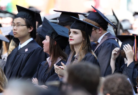 Semi-Exclusive... Emma Watson Graduates From Brown University!